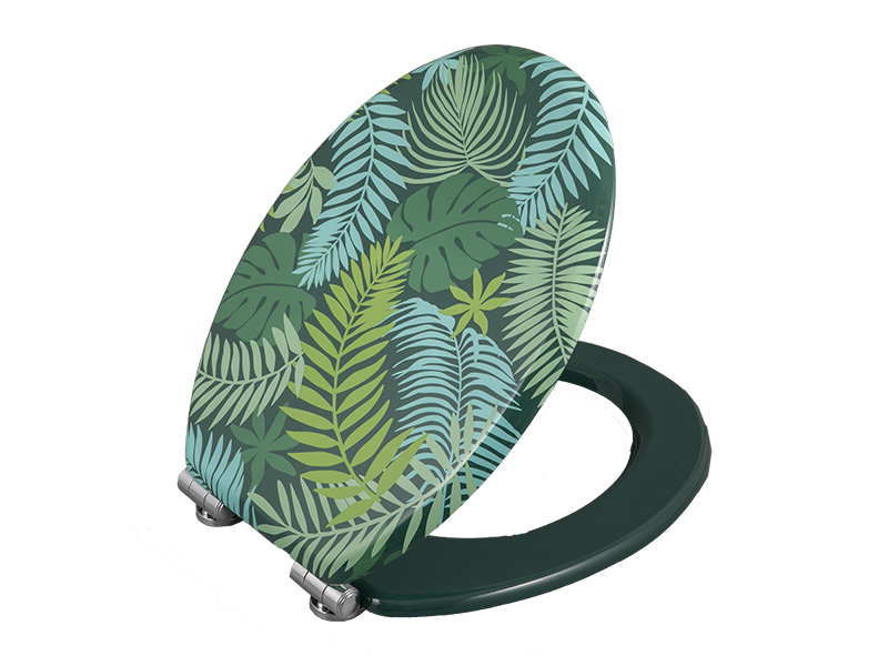Bofan MDF printed tropical wind bucket ring wall-mounted toilet cushion