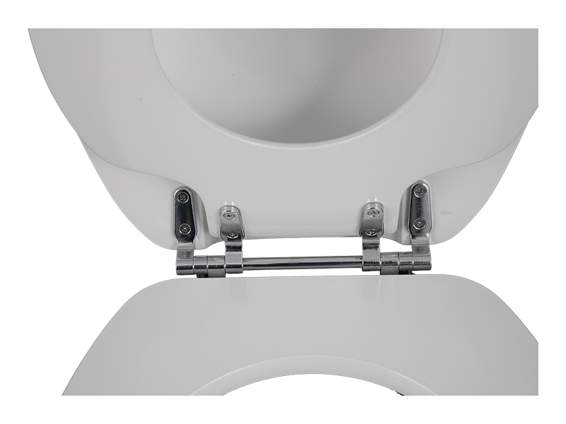 What is the interaction between the toilet cover and the hinge?