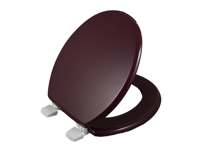 Bofan Molded Brown Wood NO VOC Anti-yellowing 2pc spill stopper lid cover modern toilet seat with lid