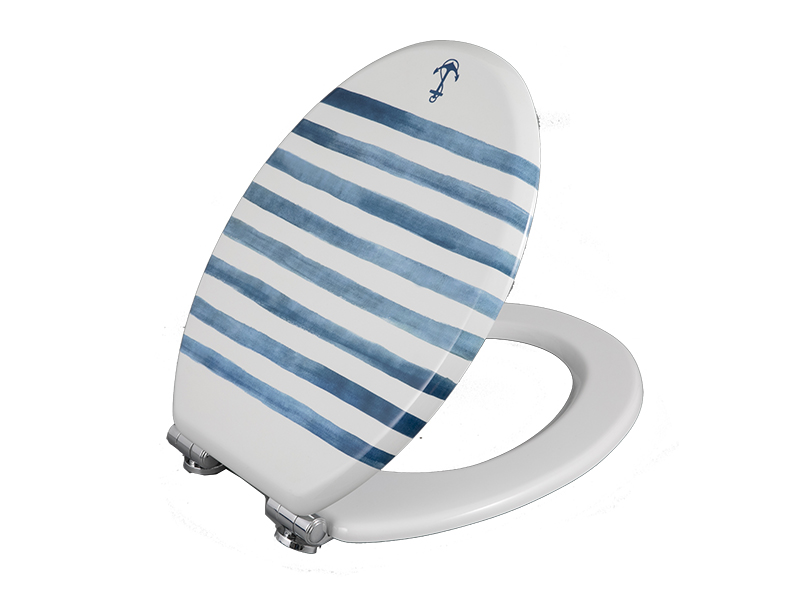 Bofan M157-10 MDF printed striped portable children's toilet seat